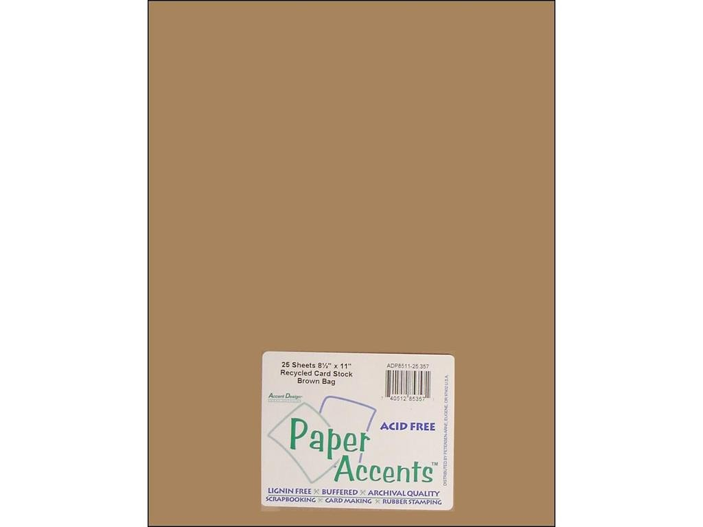 Flesh colored cardstock - Amazon Com Accent Design Paper Accents Adp8511 25 357 No 65 8 5 X 11 Brown Bag Recycled Card Stock