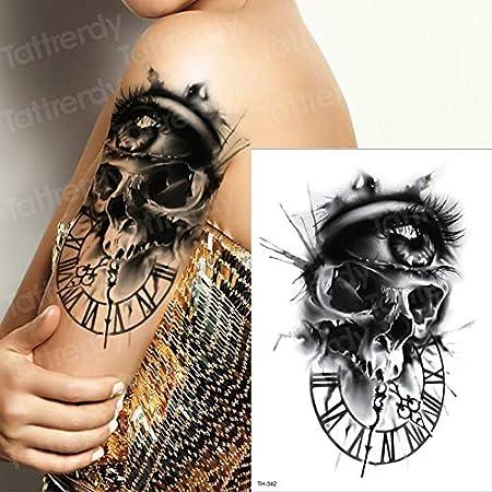 tzxdbh Dark Evil Skull Ojos Grandes Reloj Griego Suger cráneo ...