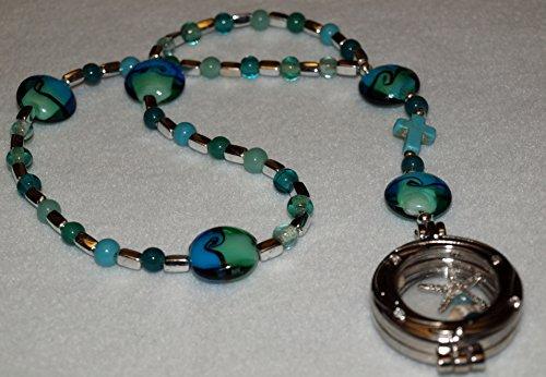 Wave Lampwork Bead (Of the Sea Series - Ocean Waves Prayer Beads)
