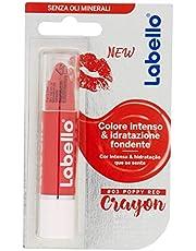 Labello Crayon Lipstick Matitone Labbra Colora e Idrata, senza Oli Minerali e Parabeni, Poppy Red