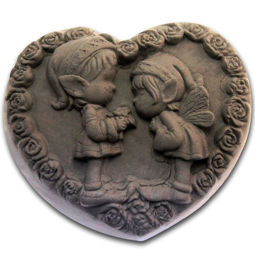 Heart childhood sweetheart 0984 Craft Art Silicone Soap mold Craft Molds DIY Handmade soap molds by Longzang