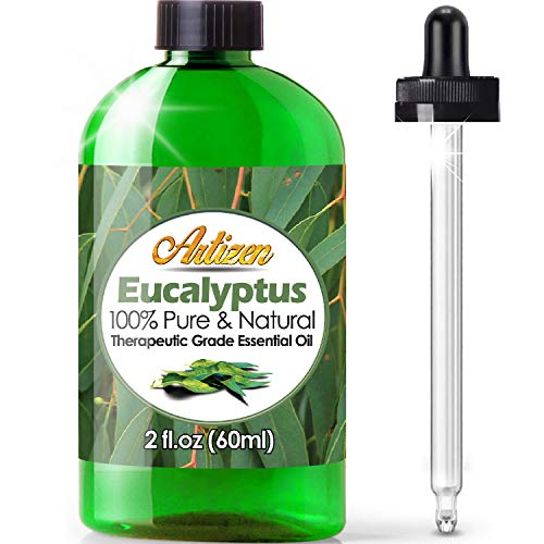 2oz - Artizen Eucalyptus Essential Oil (100% Pure & Natural - UNDILUTED) Therapeutic Grade - Huge 2 Ounce Bottle - Perfect for Aromatherapy