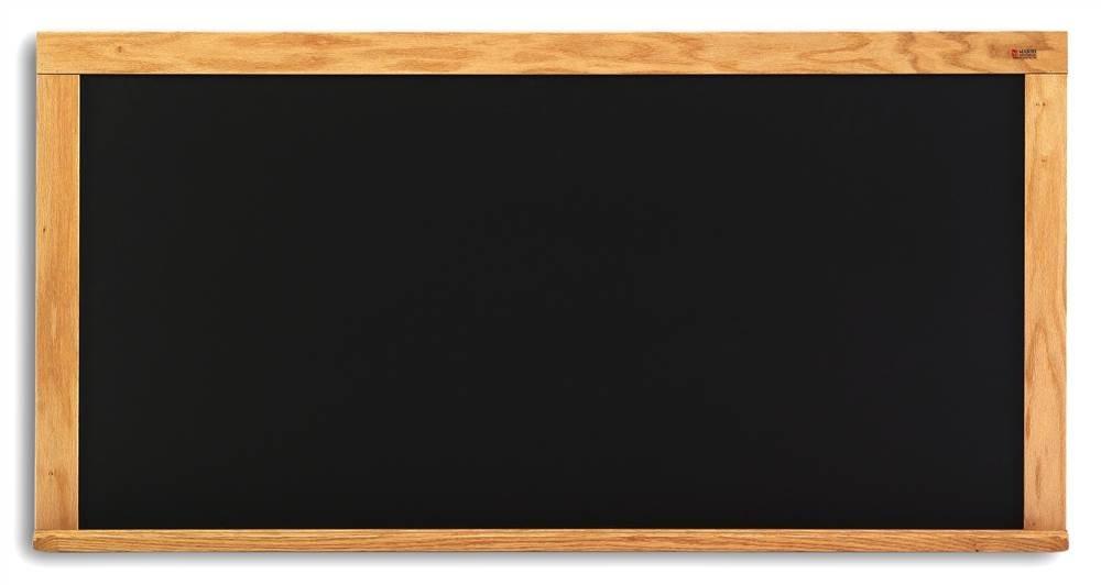 Composition Chalkboard in Black w Oak Wood Trim (33.5 in. x 45.5 in.)