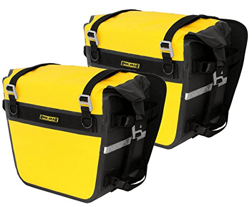 Twin Blk Pack - Nelson-Rigg SE-3050-YEL Black/Yellow Sierra Dry Saddlebag Set