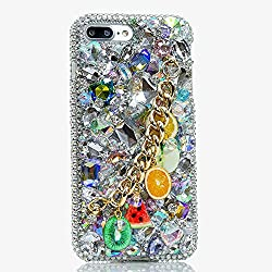Genuine Crystals Protective iPhone 7/8+ Case Cover