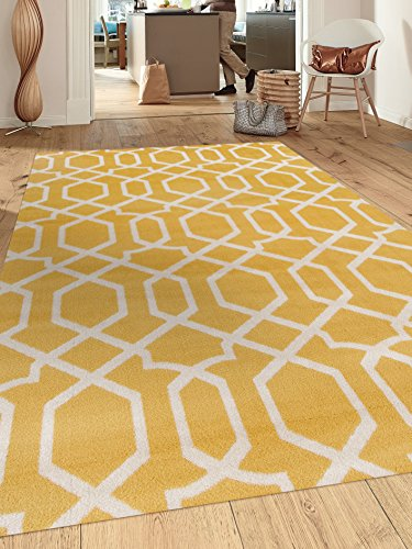 Rugshop Contemporary 53 73 Yellow