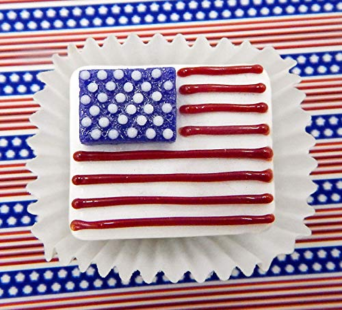 Glass Chocolate American Flag Handmade Gift Sculpture Home Décor