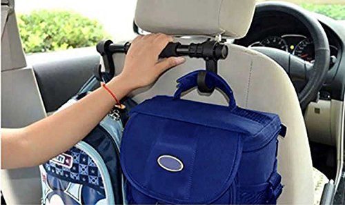 Universal Premium Car Truck Headrest Hanger Storage Hooks - Purse Handbag Grocery Bag Holder Hook