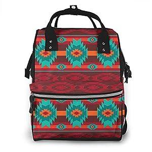 Southwestern Navajo Tribal Pattern Diaper Bag Backpack Waterproof Multi-Function Baby Changing Bags Maternity Nappy Bags…