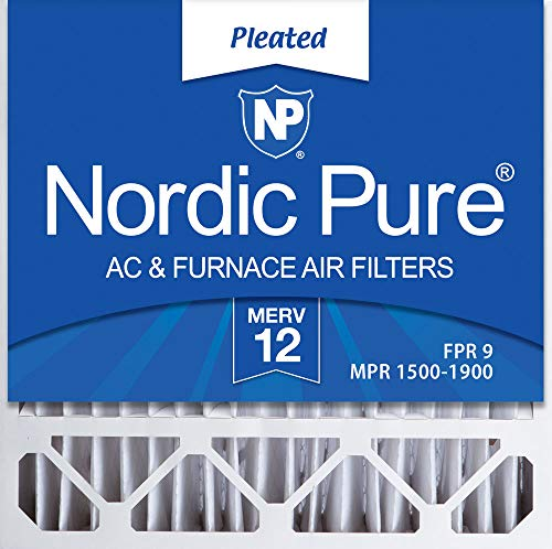 Nordic Pure 20x20x4/20x20x5 (19 5/8 x 19 7/8 x 4 3/8) Honeywell FC100A1011 Replacement Pleated AC Furnace Air Filters MERV 12, Box of 2 ()