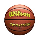 Wilson Evolution Game Basketball, Yellow, Intermediate Size - 28.5""