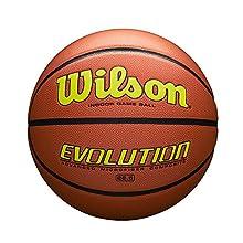 "Wilson Evolution Game Basketball, Yellow, Intermediate Size - 28.5"""