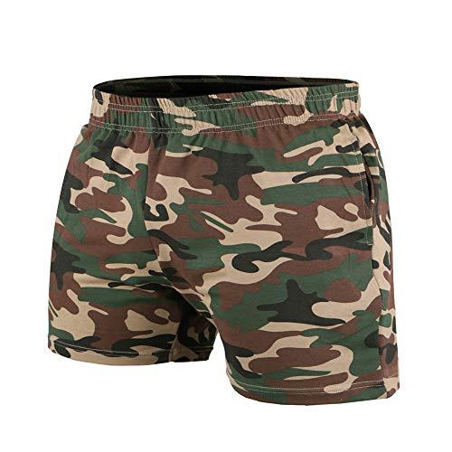 Camouflage Spandex Shorts (palglg Mens Bodybuilding Workout Shorts 5