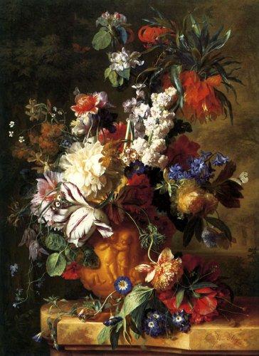 Jan Van Huysum Flowers (CANVAS Bouquet of Flowers in a Urn 1724 by Jan Van Huysum 12