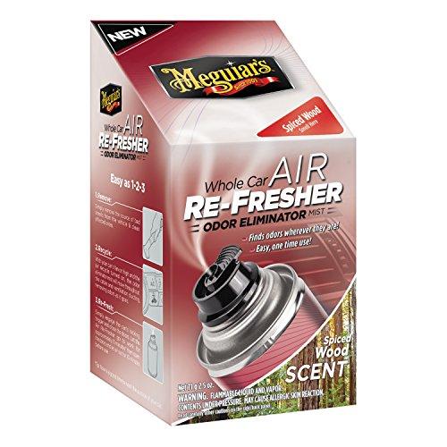 Meguiar's G19702 Whole Car Air Refresher Odor Eliminator (Spiced Wood Scent), 2.5 oz. (Wood Car)
