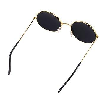 Beautyrain Gafas de sol redondas con espejos Gafas con ...