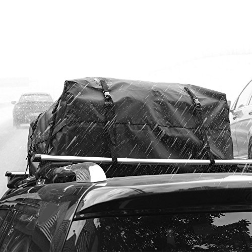 AUXMART Waterproof Rooftop Cargo Bag (15 cu. ft.) - Roof Top Soft Luggage Carrier for SUV/Van/Car (Straps to Roof Rack Crossbars or a Roof Basket) by AUXMART (Image #6)