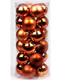 Volumus Christmas Ornaments Balls 24ct Tree Balls 1.57'' Colorful Shatterproof Decoration for Holiday Wedding Party Decoration