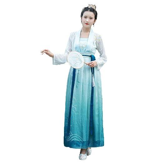 AIFHF Vestido Mujer Bordada Halloween Princesa China Gasa Hanfu La ...