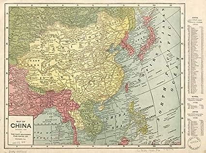 Map 1900.Amazon Com Historic Prints Hp 18 X 24 1900 Map China Home Kitchen