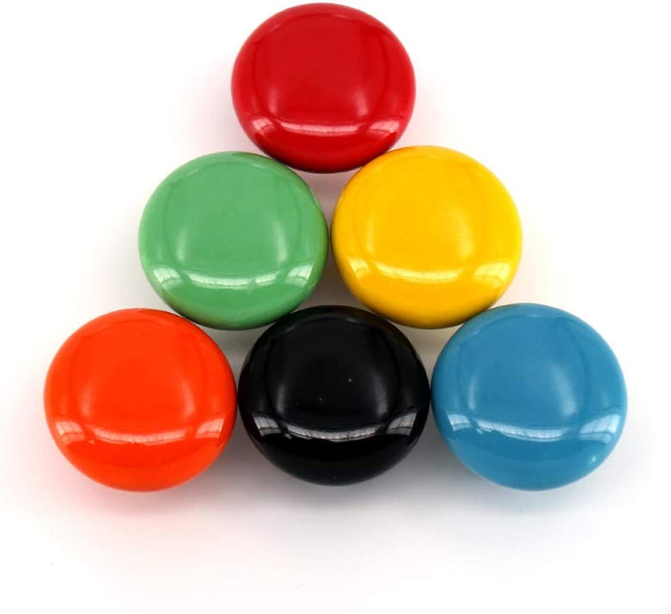 Cabinet Knobs and Pulls Baby Kids Room Cabinet Drawer Pulls Ceramic Handle Dia 32Mm Red White Black Green Orange Yellow Blue Black