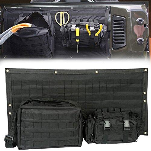 E-cowlboy Tailgate Bag Case Cover for 2007-2018 Jeep wrangler JK JKU Tool Organizer Pockets