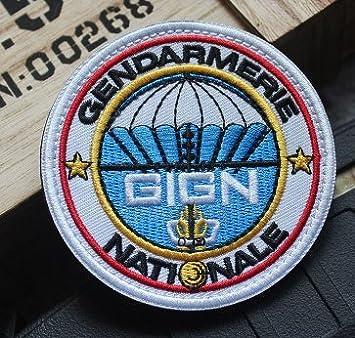 GIGN Francia gendarmería Nacional Ejército fuerzas especiales parche de Velcro bordado: Amazon.es: Juguetes y juegos