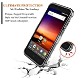 ZTE Fanfare 3 Case, ZTE Blade Vantage Case, ZTE Avid 4 Case, ZTE Tempo X Case with [Tempered Glass Screen Protector], NageBee [Heavy Duty] Shock Proof [Belt Clip] Holster[Kickstand Combo Case (Black)