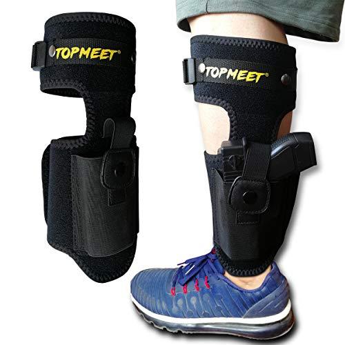 Ankle Holster for Concealed Carry with Pistol Magazine Pocket - Left Handed