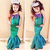 Meolin Bling Mermaid Princess Pageant Party Dress Girl Long Skirt ,green,2XL