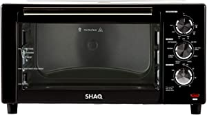 Cooking with SHAQ 8-in-1 Air Fryer Grill 2021 Model   Special Edition   Replaces Toaster Ovens, Convection Roaster with Rotisserie, Electric Indoor Grill by Shaquille O'Neal, 1500 Watts (Black)