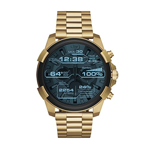 Diesel Men's Touchscreen Watch with Stainless-Steel Strap, Gold, 24 (Model: DZT2005) ()