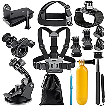 Brain Freezer J 12 in 1 Sports Action Camera Accessories Kit for Gopro Hero 5, Black