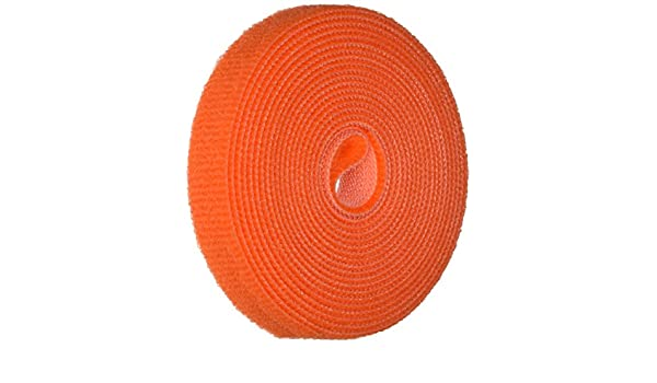 1 Wide 10 Length Hook and Loop VELCRO 1814-OW-PB//B White Nylon Velcro Onewrap Strap