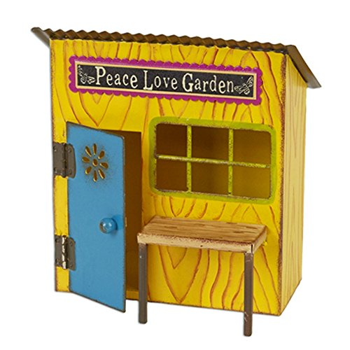 Miniature Fairy Garden Peace & Love Potting Shed