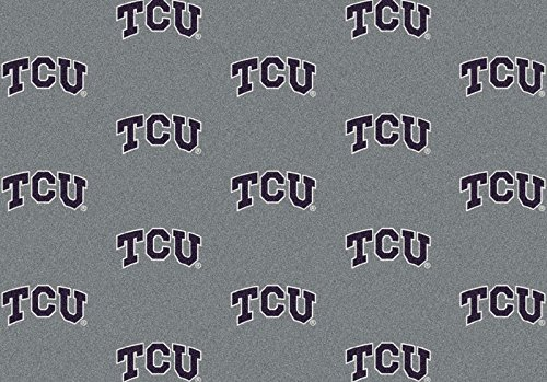 Milliken 4000018949 Texas Christian College Repeating Area Rug, 7'8'' x 10'9'' by Milliken