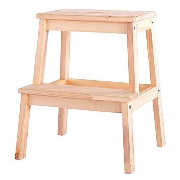 Perchero Escaleras taburetes Pequeño Banco de madera ...