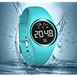 Smart Watches, IP68 Swim Watch Waterproof Activity Tracker with Pedometer Step Counter /Accurately Track Steps/Distance/Calorie/Clock/Timer for Walking Running Kids Men Women(Non-Bluetooth Need)