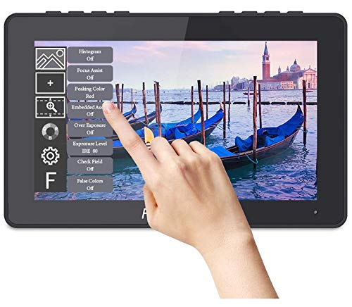 FEELWORLD F5 Pro 5.5 Inch Touch Screen DSLR Camera Field Monitor with External Kit Install The Equipment IPS FHD1920x1080 4K HDMI Input Output 5 V Type-c Input Lightweight DesignTilt Arm Sun Shade