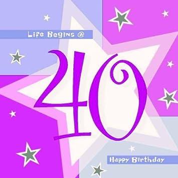 Servilletas rosas 40 cumpleaños - pack de 16 991798: Amazon ...