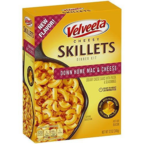 Velveeta Cheesy Skillets Mac & Cheese Dinner Kit (12 oz Boxes, Pack of 5)
