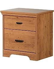 South Shore Furniture Versa 2-Drawer Nightstand, Royal Cherry