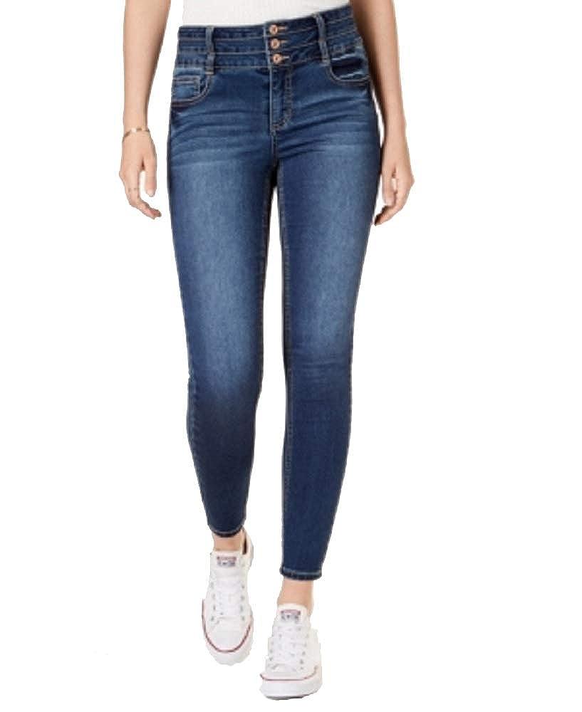 American Rag Juniors Triple-Button Skinny Jeans