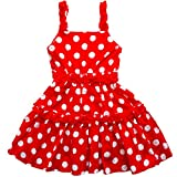 [Toki-Meki Princess], Little Girls', Summer Dress, Red & White Polka Dot, Size: 3T