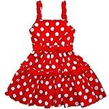 [Toki-Meki Princess], Little Girls', Summer Dress, Red & White Polka Dot, Size: 3T
