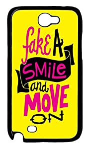 IMARTCASE Samsung Galaxy Note 2 Case, Fake A Smile And Move On PC Black Hard Case Cover for Samsung Galaxy Note 2 N7100