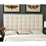 Safavieh Mercer Collection Lamar Wheat Tufted Headboard, King