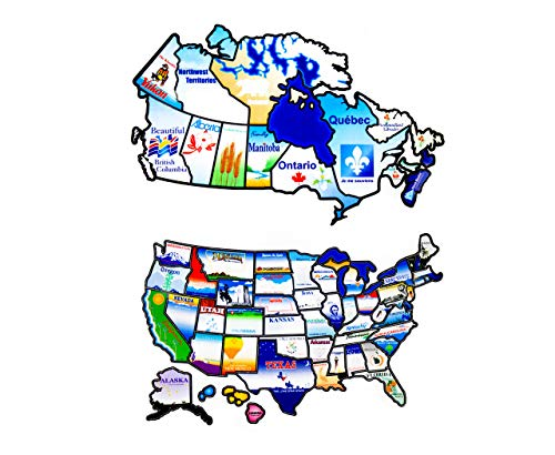 Go Get It RV Sticker Map of United States Bundle with RV Sticker Map of Canada | North America RV Travel Map (Map Of Us States And Canada Provinces)