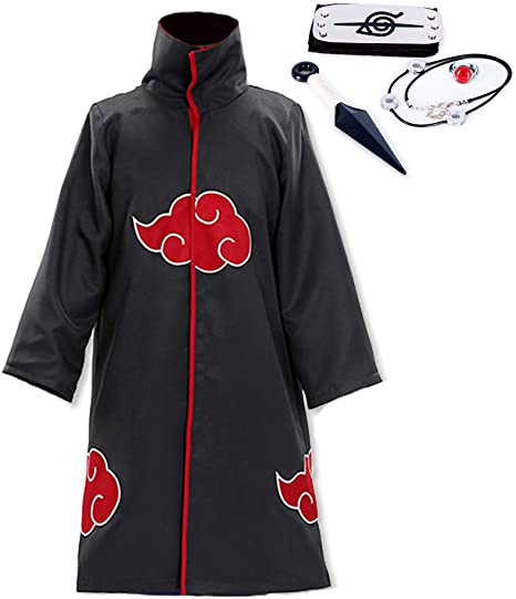 Amazon.com: Rulercosplay - Traje de capa Akatsuki unisex ...