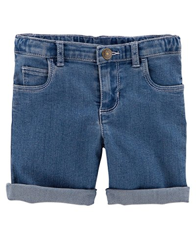 Carter's Girls' Stretch Skimmer Shorts (7, Blue/Denim)